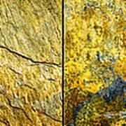 Colorful Slate Tile Abstract Composite H2 Art Print