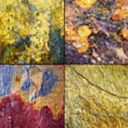 Colorful Slate Tile Abstract Composite Sq1 Art Print