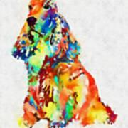 Colorful Spaniel Art Print