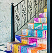 Colorful Stairs Art Print