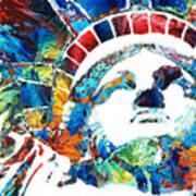 Colorful Statue Of Liberty - Sharon Cummings Art Print