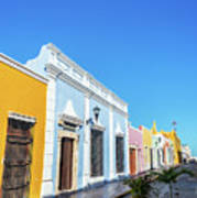 Colorful Street In Campeche, Mexico Art Print