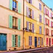 Colorful Street In Paris Art Print