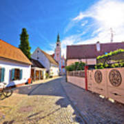 Colorful Street Of Baroque Town Varazdin View Art Print