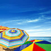 Colorful Sunshades Print by Carlos Caetano