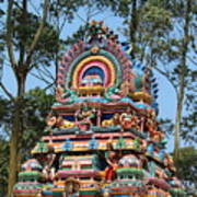 Colorful Temple, Valparai Art Print