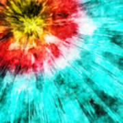 Colorful Tie Dye Art Print