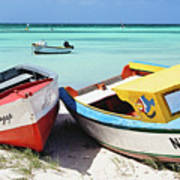 Colorful Traditional Fishing Boats Art Print