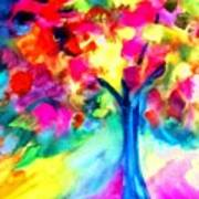 Colorful Tree Art Print