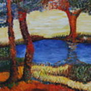 Colorful Trees Art Print