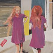 Colorful Twins Art Print
