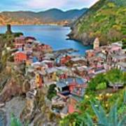 Colorful Vernazza From Behind Art Print