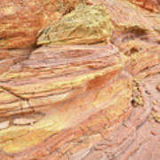 Colorful Wash 3 In Valley Of Fire Art Print
