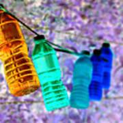Colorful Water Bottles Art Print