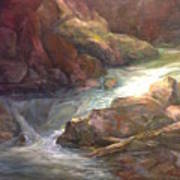 Colorful Water Flow Art Print