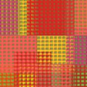 Colorful Weave Art Print