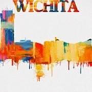 Colorful Wichita Skyline Silhouette Art Print