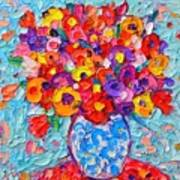 Colorful Wildflowers - Abstract Floral Art By Ana Maria Edulescu Art Print