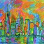 Coloring The Big Apple Art Print