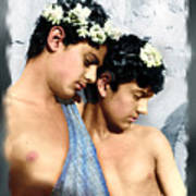 Colorized Edoardo And Vincenzo Galdi By Pluschow Art Print