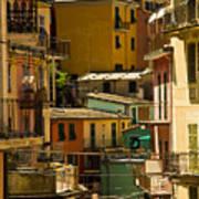 Colors Of Manarola Italy Art Print