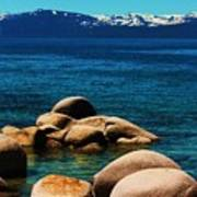 Colors Of Sand Harbor Art Print