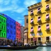 Colors Of Venice Art Print by Jeff Kolker