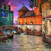 Colors Of Venice Art Print by Joel Payne