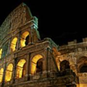 Colosseum At Night Art Print
