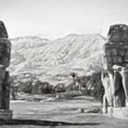 Colossi Of Memnon 2 Art Print