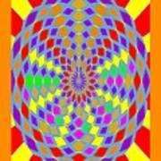 Coloured Ovals Art Print