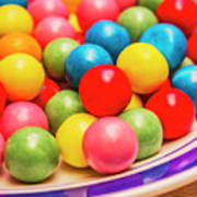 Colourful Bubblegum Candy Balls Art Print