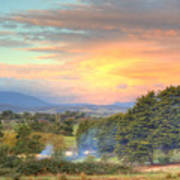 Colourful Clouds At Sunset Yarra Glen 09-05-2015 Art Print