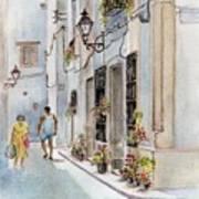 Colourful Corner In Spain Art Print