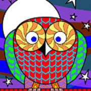 Colourful Owl Art Print
