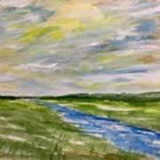 Colourful Sky Over The Creek Art Print