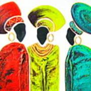 Colourful Trio - Original Artwork Art Print
