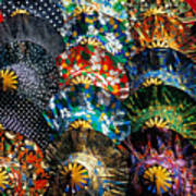 Colourful Umbrellas Bangkok Thailand Art Print