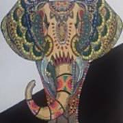 Colours In An Elephant Art Print