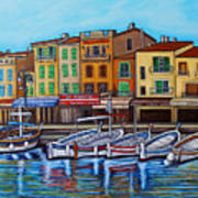 Colours of Cassis Art Print