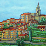 Colours of Crillon-le-Brave, Provence Art Print