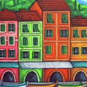 Colours of Liguria Art Print