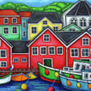 Colours of Lunenburg Art Print