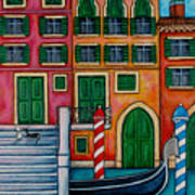 Colours Of Venice Art Print