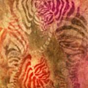 Colrfull Donkies Art Print