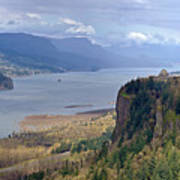 Columbia River Gorge Oregon State Panorama. Art Print