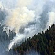 Columbia River Gorge Wildfire 2017 Art Print