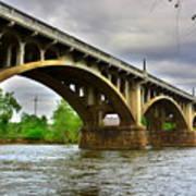Columbia S C Gervais Street Bridge Art Print