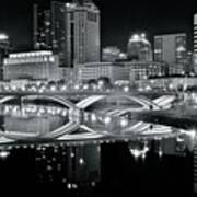Columbus Ohio Black And White Art Print