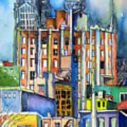 Columbus Ohio City Lights Print by Mindy Newman